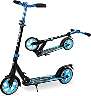 Vokul Foldable Kick Scooters for Kids 8 Years and up, Quick-Release Folding Mechanism+Adjustable Handlebar+Sho