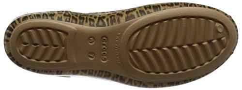 Crocs Olivia Ii Graphic, Bailarinas con Punta Cerrada para Mujer Multicolore (Leopard)