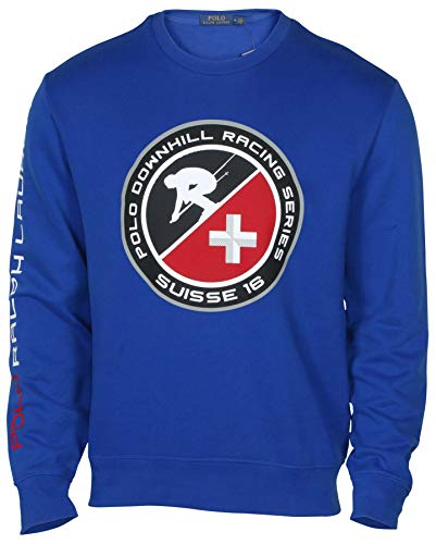 Polo RL Men's Downhill Racing Crew Sweatshirt-Blue-XL ()