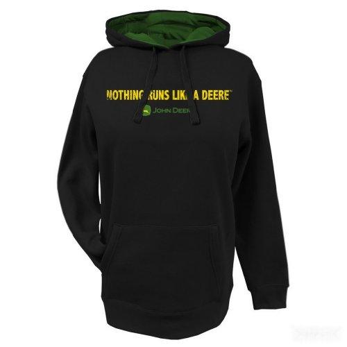 John Deere 'Nothing Runs Like A Deere' Fleece Hoodie - Women's - Black, Black