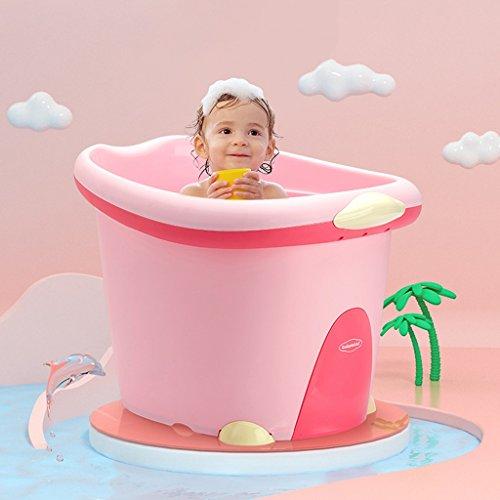 GAOYANG Baby Tub Large Child Children Bath Tub Bath Barrel Baby Bath Barrel Can Sit (Color : Princess powder) ()