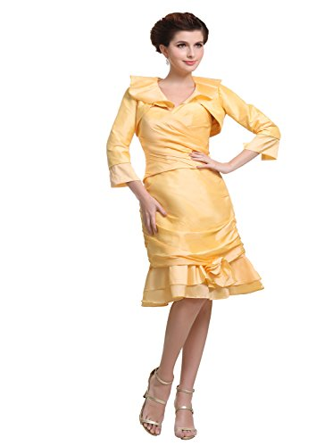 Yellow Mother of the Bride Dresses