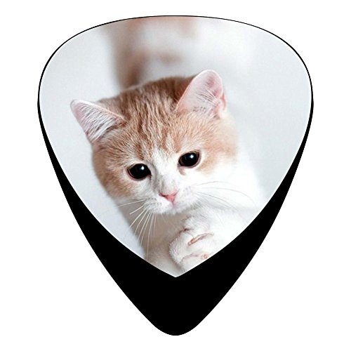 Guitar Picks Celluloid Cutest Animal Cat 12 Pack Shape For Acoustic Guitar Mandolin Electric Guitar And Bass