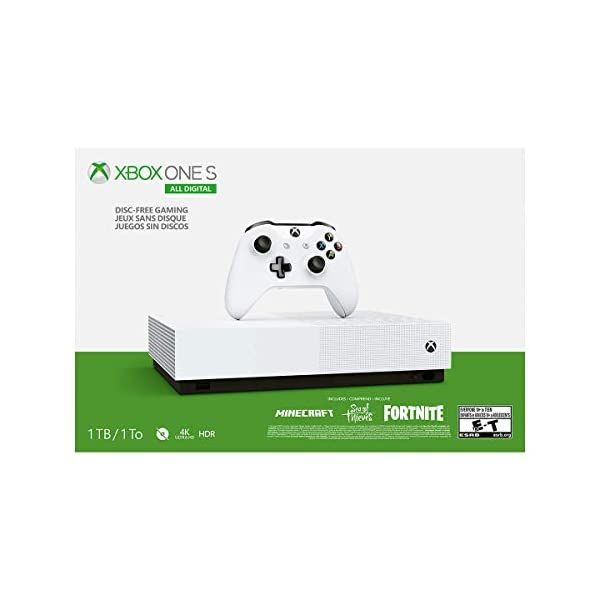 Xbox One S 1TB All-Digital Edition Console (Disc-Free Gaming) - Discontinued 3