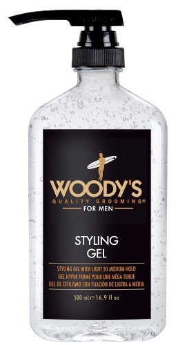 Woody's Styling Gel with Light to Medium Hold for Men, 16.9 Ounce