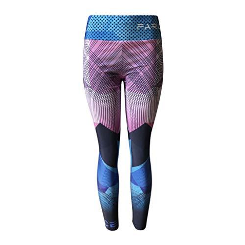 Reasoncool Women Leggingstight,High Waist Tummy Control Leggings Capris Workout Running Stretch Yoga Pants Elastic Fitness Body Sports Pants (Pink,XL) ()