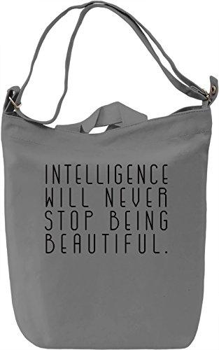 Beautiful Intelligence Borsa Giornaliera Canvas Canvas Day Bag| 100% Premium Cotton Canvas| DTG Printing|