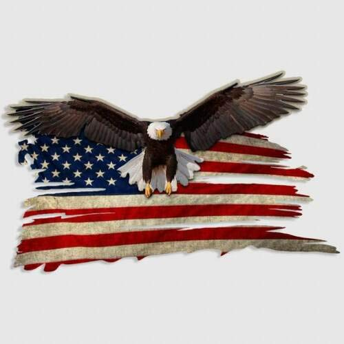 Mildred Rob Bald Eagle USA American Flag Sticker Car Truck Window Decal Gun Safe Cooler Yeti