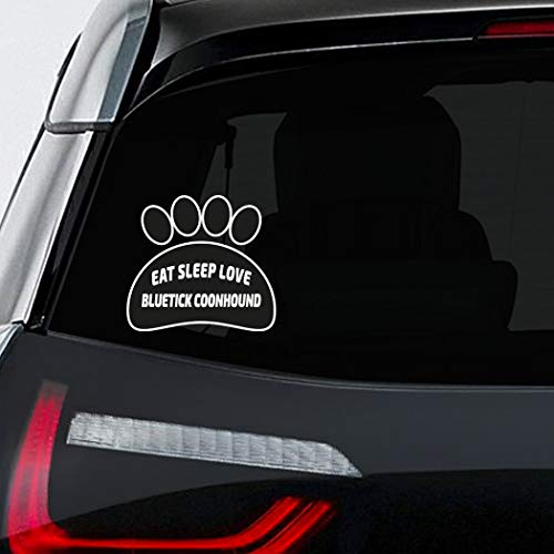 Makoroni - EAT SLEEP LOVE BLUETICK COONHOUND Pet Dog Sticker Decal - 5'by6'(Small) or 8'by9'(Large)