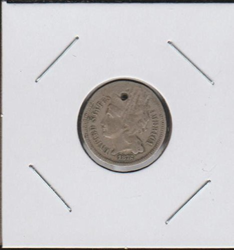 1872 Nickel Three Cent (1865-1889) Three-Cent About Good