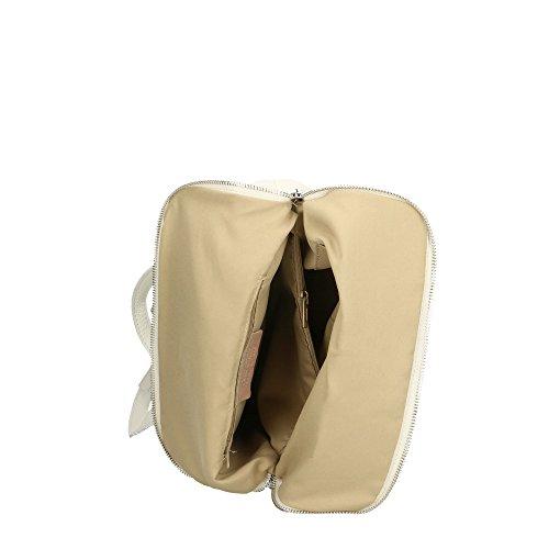 à dos cuir Made Cm véritable en Aren 29x37x11 femme Blanc Italy Sac in 4EXxq5