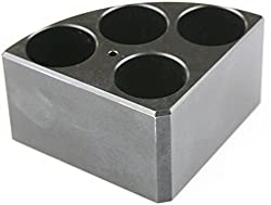 Scilogex 18900005 Quarter Reaction Block For 16 Ml Reaction Vessel 28 Mmdia, 43 Mmheight, 4 Holes, Black