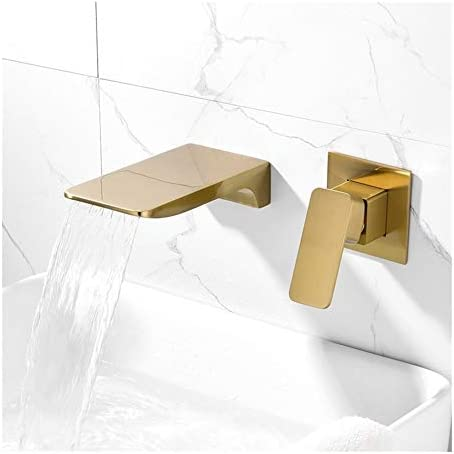 家庭用浴室の蛇口 ブラッシュ金バスタブのシャワーの蛇口真鍮素材滝バスタブタップミキサー設定 浴室の台所の蛇口 (Bath & Shower Faucet Type : In-Wall B+amp; S Faucets)