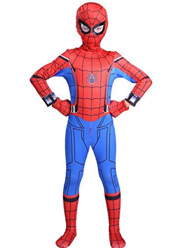 Es Unico Boys Superhero Bodysuit Costume for Halloween, Spandex Lycra Zentai Costume with Front Zipper(New Version. 5-6T)