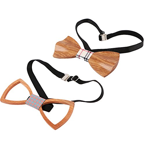 kilofly Handmade Wooden Bowtie Adjustable
