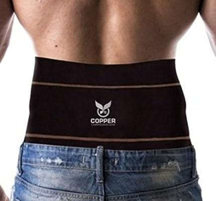 74dde72e97 Adjustable For Men Copper Compression Gear PREMIUM Fit Back Brace Lower  Lumbar Support Belt.