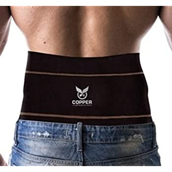 Amazon.com: Copper Compression Gear PREMIUM Fit Back Brace ...
