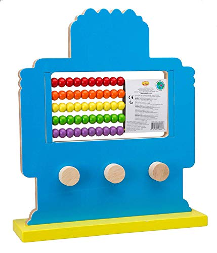 Alex Jr. Jungle Fun Activity Cart, My Busy Town Wooden Activity Cube and Count N Spin Abacus Robot, Playset, Alphabet, Matching, Sensory, Math, Counting, Numbers, Colors, Early Learning, Educational by ALEX Jr. Toys (Image #7)