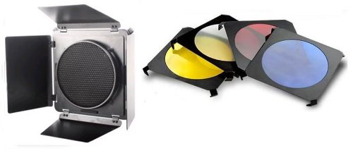 BARN DOOR & Honeycomb Grid& Gel Set LARGE for Elinchrom Flash Neewer 10000115@@193