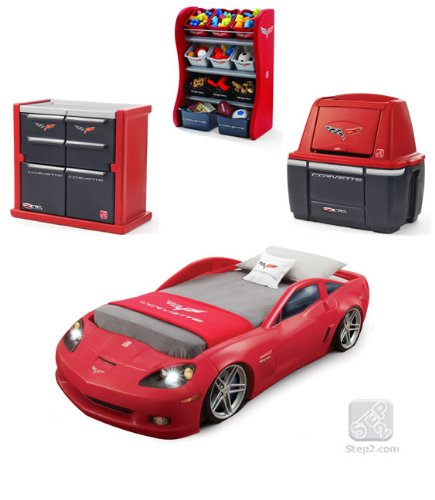 car bedroom furniture red corvette dresser storage combo desertcart. Black Bedroom Furniture Sets. Home Design Ideas