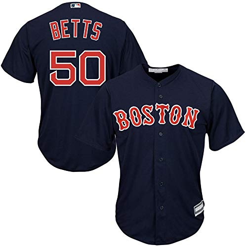 Mookie Betts Boston Red Sox Cool Base Player Jersey #50- Navy M
