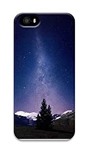 iPhone 5 5S Case Awesome Milky Way And Mountains Tree 3D Custom iPhone 5 5S Case Cover