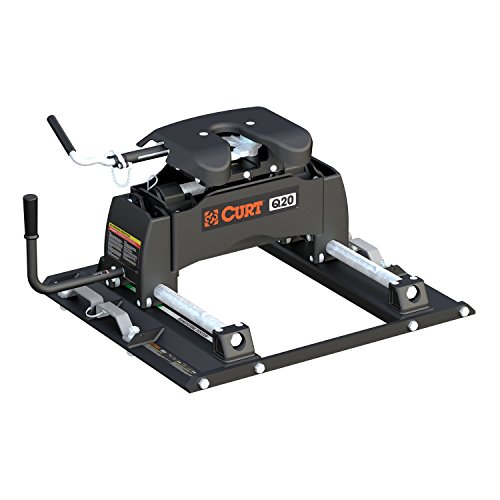 Curt Manufacturing 16677 Q20 5th Wheel Hitch with Ford Puck System Roller for Short Bed Trucks (20,000 lbs. GTW) -