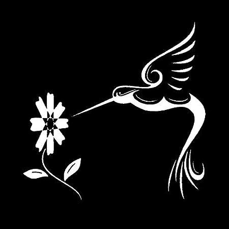 Autocollants de Voiture de Voiture Colibri NKCTF Autocollants Animaux Haut de Gamme Color : White Fleurs Fleurs et Oiseaux