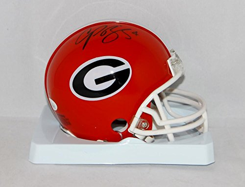 Champ Bailey Autographed Georgia Bulldogs Riddell Mini Helmet-JSA Witnessed Auth