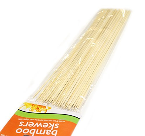 Long Skewer - Pack of 120 Extra Long Disposable Bamboo Skewers
