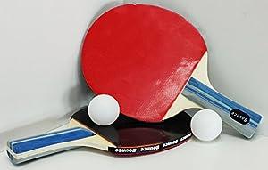 Tischtennis SET 5 Teilig, 2 Schläger und 3 Bälle, Ping Pong Set (LHS)