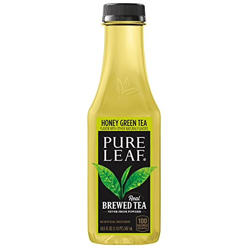 Green Tea Sweet Honey (Pure Leaf Iced Tea, Not Too Sweet Green Tea with Honey, 18.5 oz)