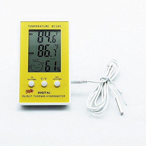 AODE® Новый цифровой ЖК Крытый Открытый Погода Влажность термометр гигрометр метр колеи C / F 130015