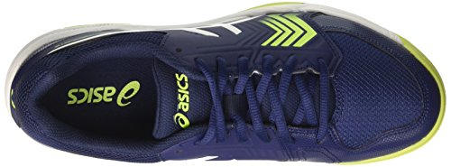 Asics Gel-Dedicate 5, Scarpe da Tennis Uomo, Blu (Indigo Blue/White/Safety Yellow), 42.5 EU