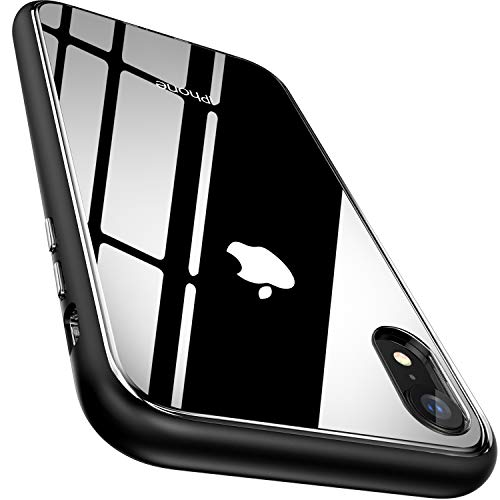 - MAXEVIS iPhone XR Case, Clear Protective Bumper Dual Layer Case with Transparent Soft TPU Back+ Shockproof Bumper [Slim Thin] for Apple iPhone XR 6.1-Black