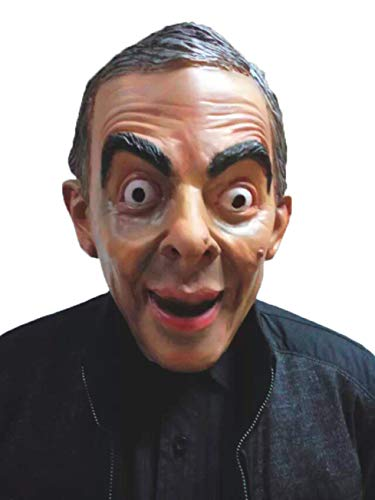 QueenA - Mr.Bean Mask - Famous President Mask, Halloween Costume, Carnival, Christmas, Easter, Mask of Fete]()