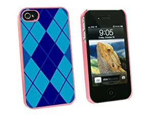 Graphics and More Argyle Hipster Blue Snap-On Hard Protective Case for Apple iPhone 5c - Non-Retail Packaging - Pink