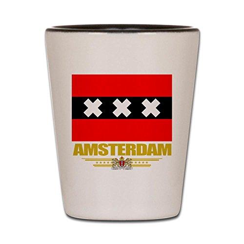 CafePress - Amsterdam Flag - Shot Glass, Unique and Funny Shot - Nederland Glass