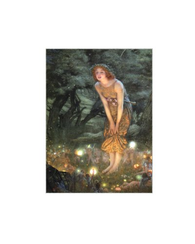 Fairy Fantasy Canvas Art - Zeckos Midsummers Eve Fairy Art LED Accent Printed Canvas Wall Hanging