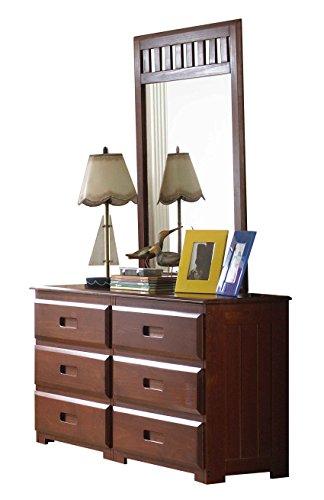 Discovery World Furniture 6 Drawer Dresser Mirror, Merlot -