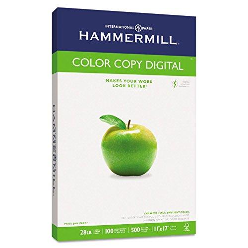 Hammermill Paper, Premium Color Copy Paper, 11 x 17 Paper, Ledger Size, 28lb Paper, 100 Bright, 1 Ream / 500 Sheets (102541R) Acid Free - X 11 Paper 17