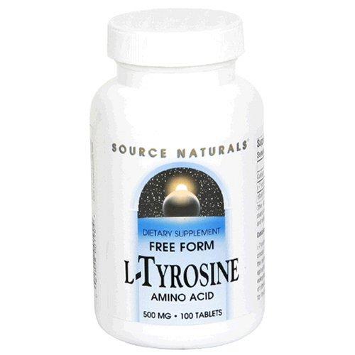 Source Naturals L-Tyrosine 500mg, 100 comprimés (lot de 3)