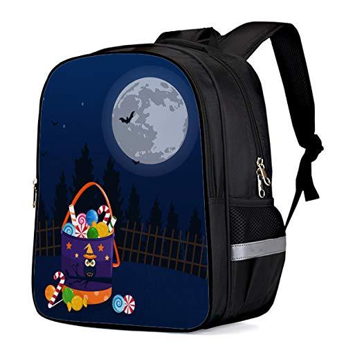 School Backpack for Boys/Girls/Kindergartener Halloween Candy Bag Personalized 3D Printed Kids Shoulders Bag Bookbag Lunch Bag Travel Daypack Large]()