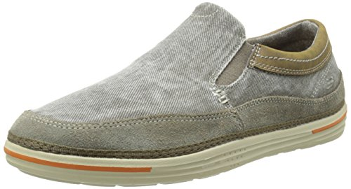 Skechers Usa Mens Landen Steller Slip-on Loafer Gray