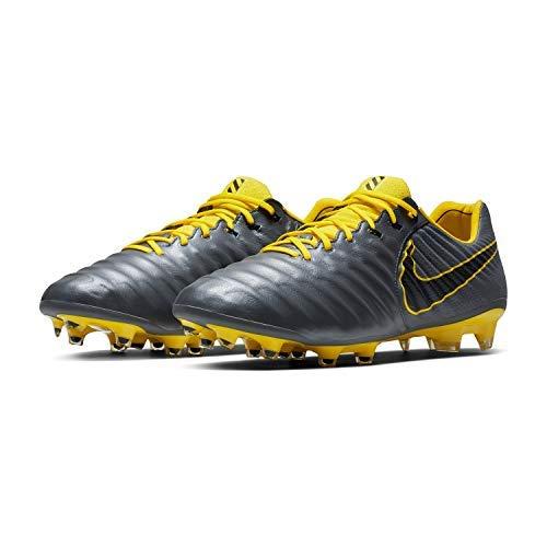 Nike Tiempo Legend 7 Elite FG Soccer Cleats (M6.5/W8, Grey/Yellow)