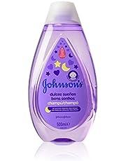 Johnson's Baby Dulces Sueños - Champú con Esencias Relajantes NaturalCalm, Lavanda y Manzanilla, 500 ml