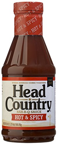 Head Country Bar-B-Q Sauce, Hot & Spicy, 20 Ounce