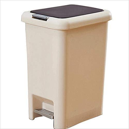 Q Ian l Ij i AJ i- ゴミ箱手押し式ペダルダブルオープンゴミ箱、リッドゴミ箱付きホームバスルーム 屋内と屋外のゴミ箱