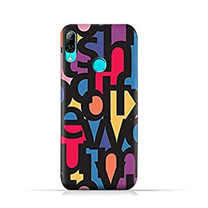 AMC Design Huawei P Smart 2019 TPU Soft Protective Case with Abstract Fonts Pattern