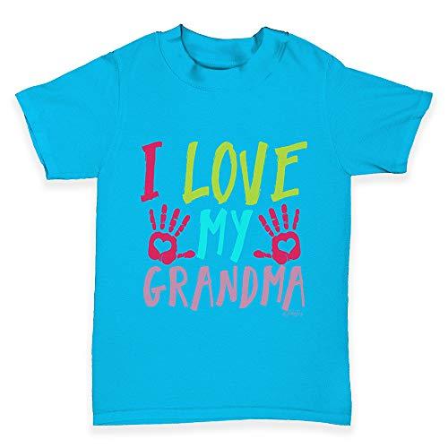 (TWISTED ENVY Baby Tshirts I Love My Grandma Azure Blue 0-3 Months)